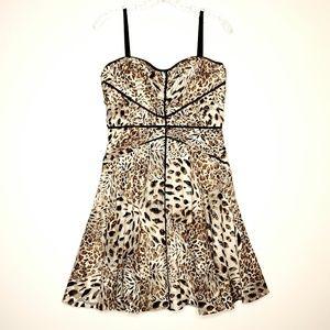Betsy Johnson Fit & Flare Animal Print Dress 8